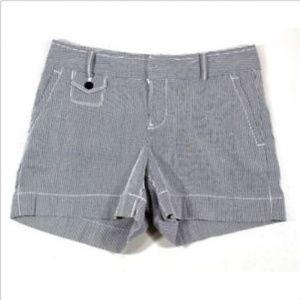 B. Republic Navy&White Striped Martin Fit Shorts